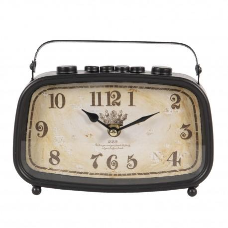 Zegar w stylu Vintage w kształcie starego radia robi wrażenie!