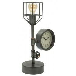 Lampa Stołowa z Zegarem Industry