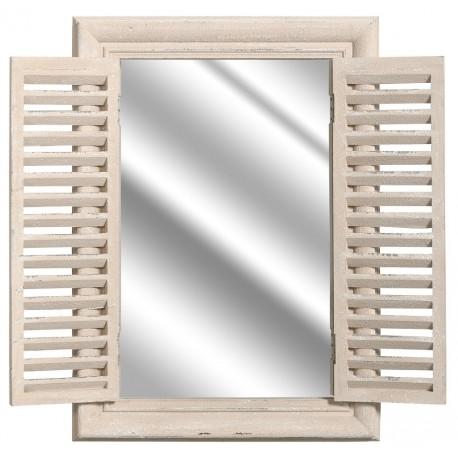 Lustro w formie okiennicy będzie pasowało do każdego wnętrza w stylu prowansalskim.
