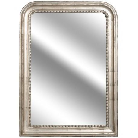 Lustro Deluxe z eleganckiej srebrno brązowej ramie