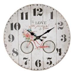 Zegar w Stylu Prowansalskim z Napisami