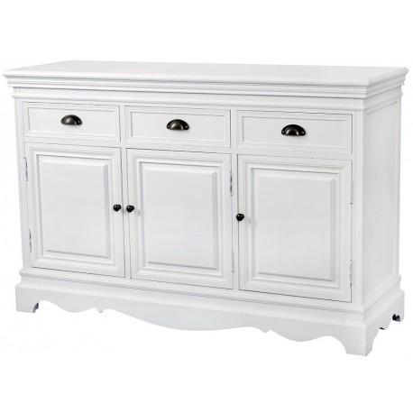 Biała komoda z szufladami i drzwiczkami
