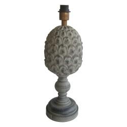 Lampa Stołowa w Stylu Prowansalskim Szara A