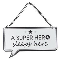 Tabliczka Do Pokoju Chłopca Super Hero A