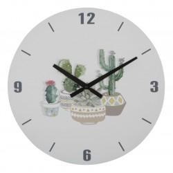 Zegar Ścienny z Kaktusami