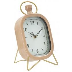 Różowy Zegar Stołowy Na Złotych Nóżkach
