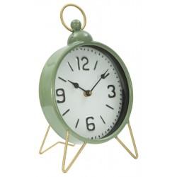Zielony Zegarek Stołowy Na Złotych Nóżkach