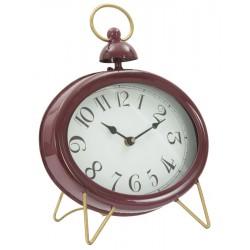 Bordowy Zegar Stołowy Na Złotych Nóżkach