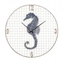Zegar Marynistyczny z Konikiem Morskim