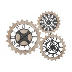 Zegar w Stylu Industrialnym Ingranaggi Potrójny