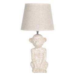 Ceramiczna Lampa Stołowa z Zielonym Abażurem