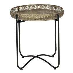 Metalowy Stolik z Ażurowym Brzegiem B Clayre & Eef
