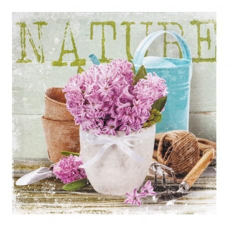 Obrazek z fioletowym kwiatem w stylu prowansalskim