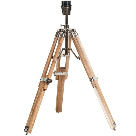 Ozdobna lampa belldeco mająca trzy drewniane nogi