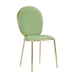 Złote Krzesła Glam Emily Zielone 2szt. Mauro Ferretti