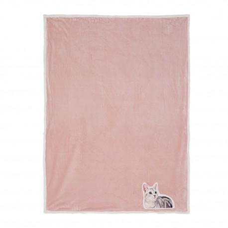 Pled z Kotem Różowy A
