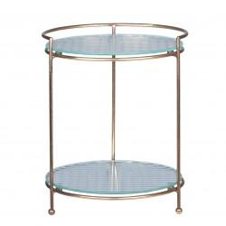 Etagere w. 2 glass shelves B