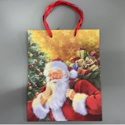 Torebka Świąteczna Na Prezenty z Pierniczkami