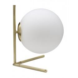 Złota Lampa Stołowa Szklana Kula Glamy B