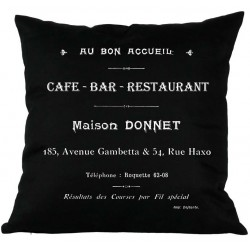 Poduszki Ozdobne CAFE BAR Czarne