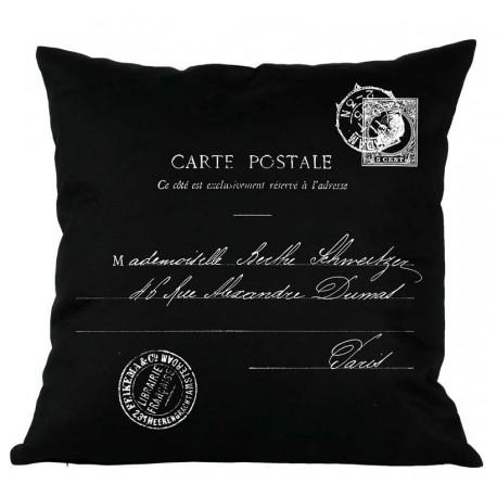 Poduszki Ozdobne CARTE POSTALE Czarne