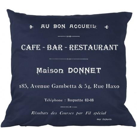 Poduszki Ozdobne CAFE BAR Granatowe