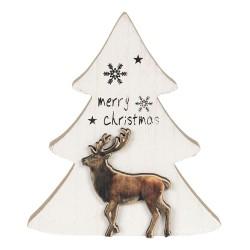Drewniana Choinka Ozdobna Merry Christmas