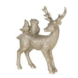 Figurka Świąteczna Złota Jelonek C Clayre & Eef