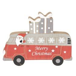 Drewniana Dekoracja Świąteczna Mikołaj w Autobusie Clayre & Eef
