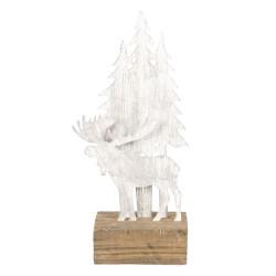 Dekoracja Świąteczna Metalowe Choinki Na Drewnie C Clayre & Eef