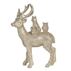 Figurka Świąteczna Złota Jeleń B Clayre & Eef