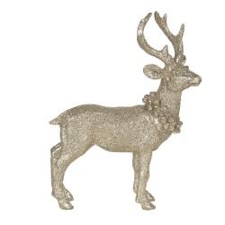 Figurka Świąteczna Złota Jeleń A Clayre & Eef