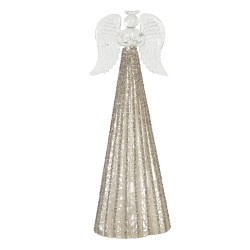 Dekoracja Świąteczna Szklany Anioł Świecący Clayre & Eef