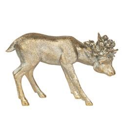 Figurka Świąteczna Złota Jelonek B Clayre & Eef