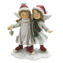 Figurka Świąteczna Dwa Aniołki Clayre & Eef