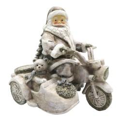 Figurka Świąteczna Mikołaj Na Motocyklu Clayre & Eef