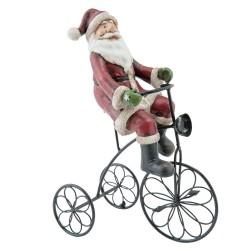Dekoracja Świąteczna Mikołaj Na Rowerze Clayre & Eef