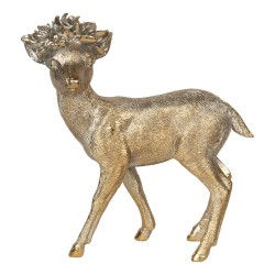 Figurka Świąteczna Złota Jelonek A Clayre & Eef