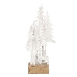 Dekoracja Świąteczna Metalowe Choinki Na Drewnie B Clayre & Eef
