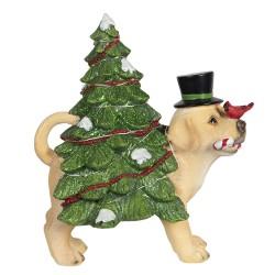 Figurka Świąteczna Ledowa Pies z Choinką Clayre & Eef