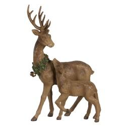 Figurka Świąteczna Jeleń z Jelonkiem Clayre & Eef