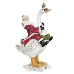 Figurka Świąteczna Mikołaj Na Łabędziu Clayre & Eef