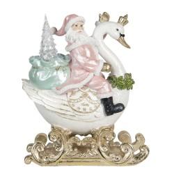 Figurka Świąteczna Ledowa Mikołaj Na Łabędziu A Clayre & Eef