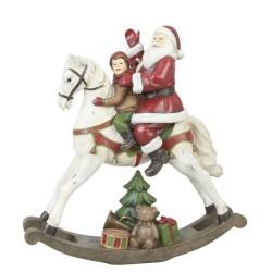 Figurka Świąteczna Mikołaj Na Koniu Clayre & Eef