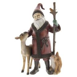 Figurka Świąteczna Mikołaj Ze Zwierzętami Clayre & Eef