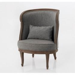 Fotel w Stylu Prowansalskim Szary