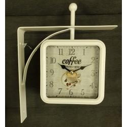 Dwustronny Zegar Dworcowy Coffee