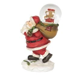 Dekoracja Świąteczna Mikołaj z Kulą Śnieżną Clayre & Eef