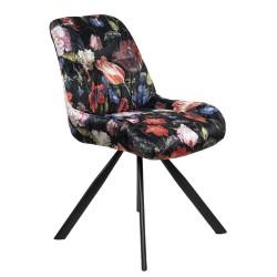 Krzesło w Kwiaty Tapicerowane A