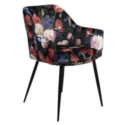Krzesło w Kwiaty Tapicerowane B